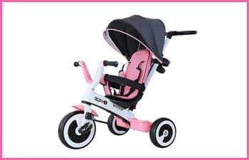 omcom Baby Tricycle Children's Trike 4 In 1